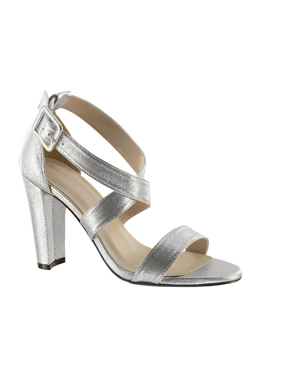 Touch Ups and Dyables - High Heel Criss Cross Straps Soft Metallic