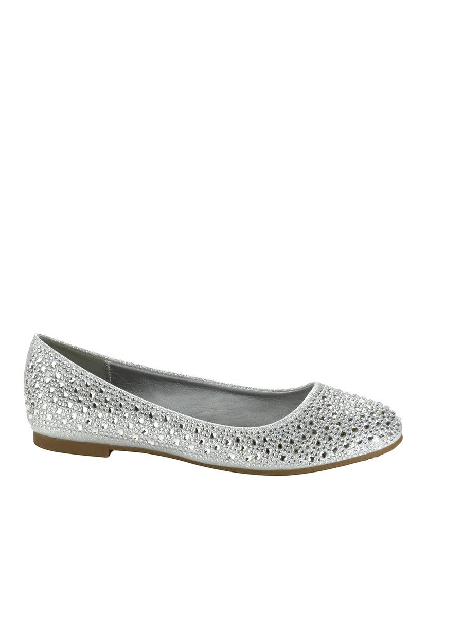 Touch Ups and Dyables - Ballerina Flats with Rhinestones