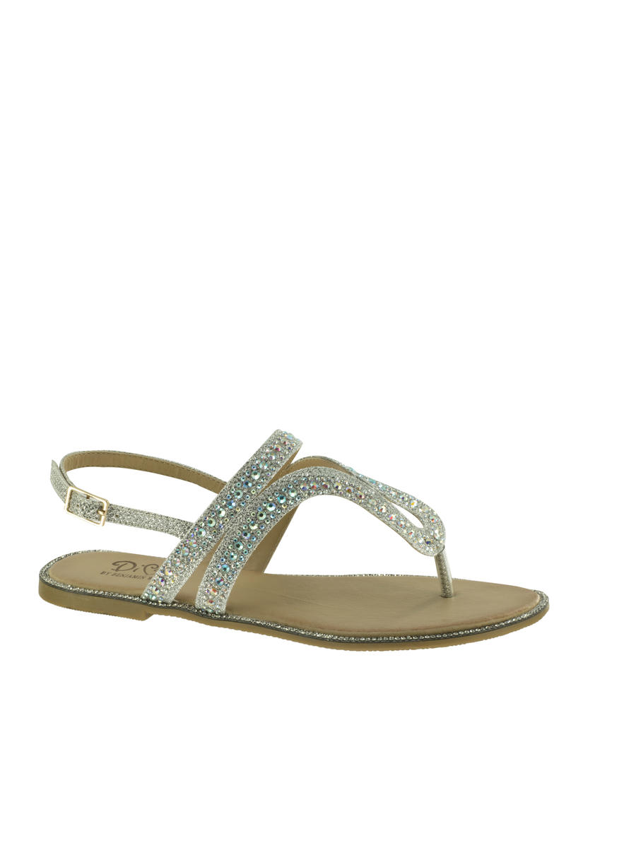 Touch Ups and Dyables - Rhinestone Flat  Thong Sandal