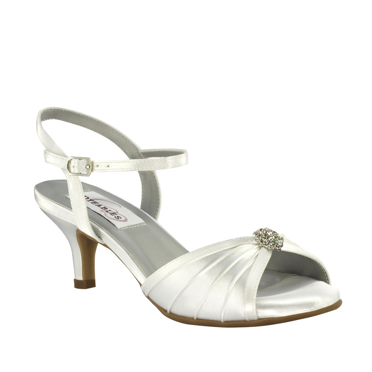 Pleated Satin Low-Heel Pump