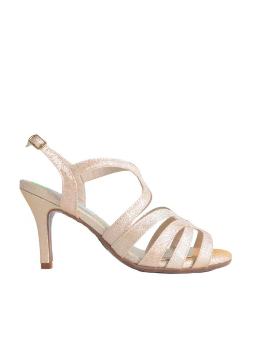 Touch Ups and Dyables - Strappy Glitter Open Toe Sandal