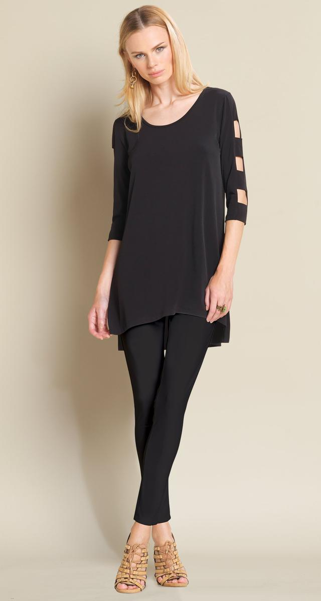 Ladder Sleeve Soft Knit Tunic