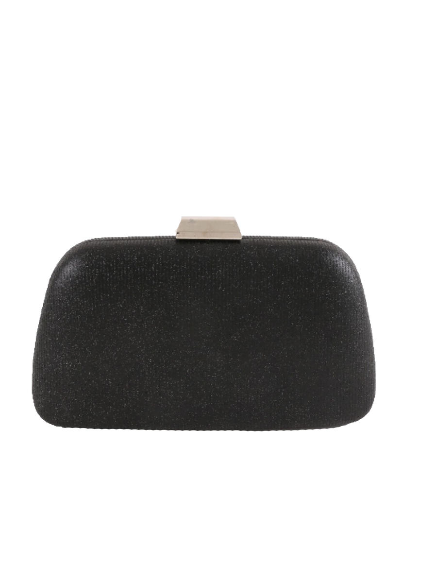 Glitter Pleated Evening Bag