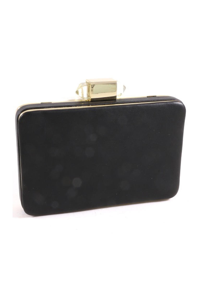UR ETERNITY BAGS - Gold Plated Leatherette Clutch