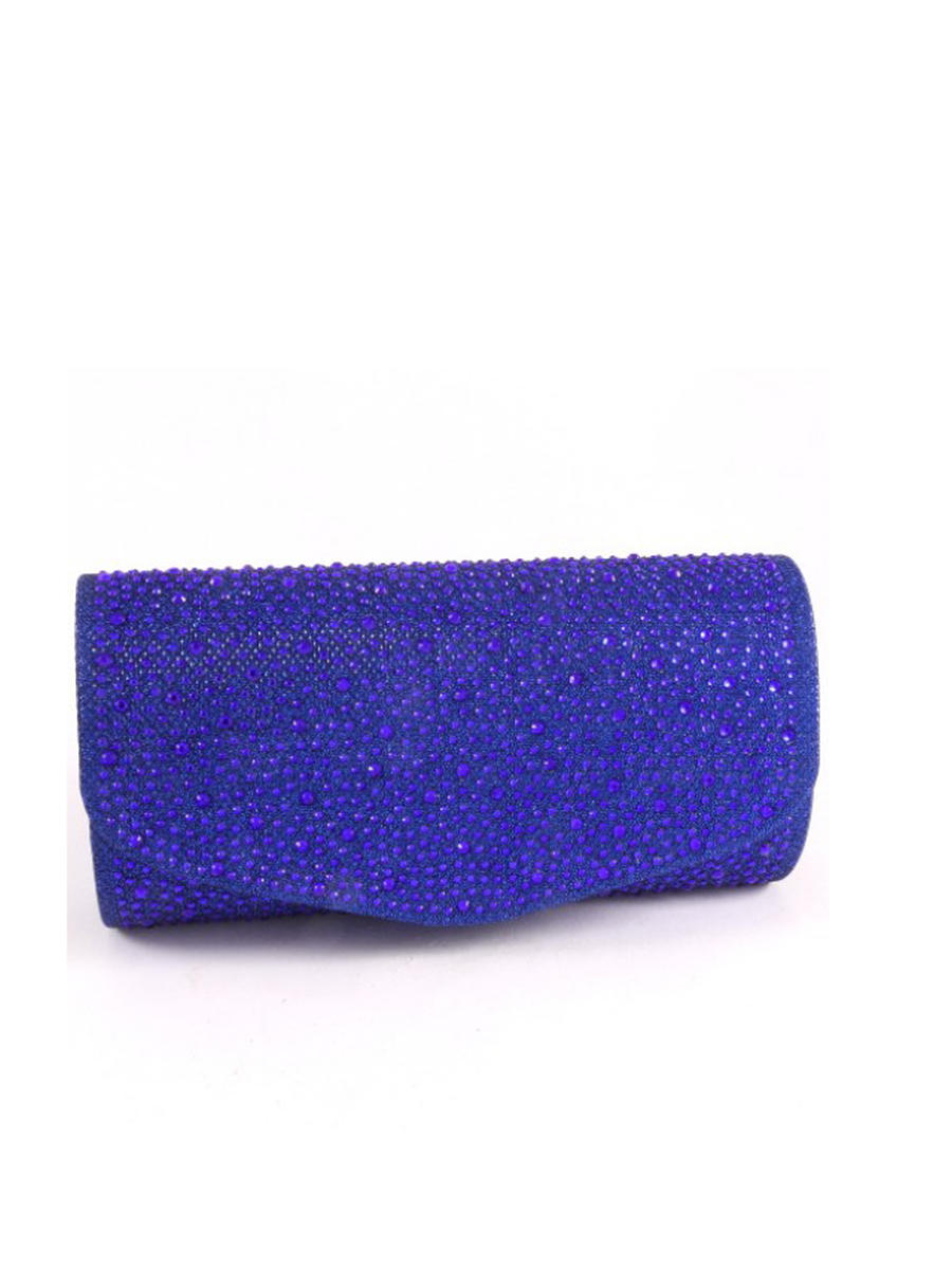 All Over Rhinestone Flap Clutch