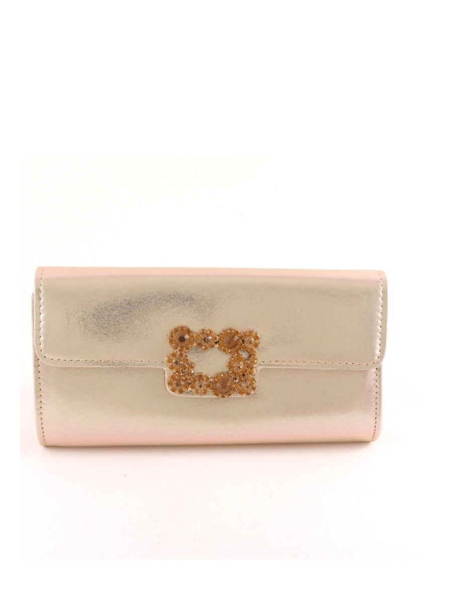 UR ETERNITY BAGS - Shimmer Clutch With Rhinestone Brooch