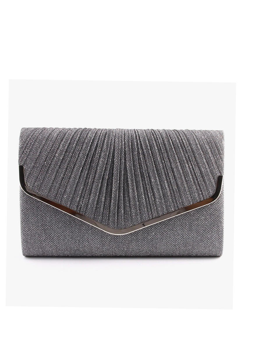 UR ETERNITY BAGS - Pleated Glitter Lurex Clutch