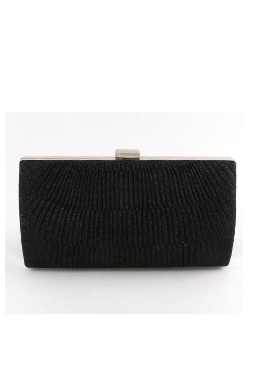 Glitter Pleated Clutch Evening Bag
