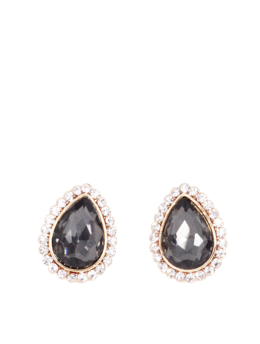 U.S. JEWELRY HOUSE Ltd. - Pear Cut Rhinestone Stud Earrings