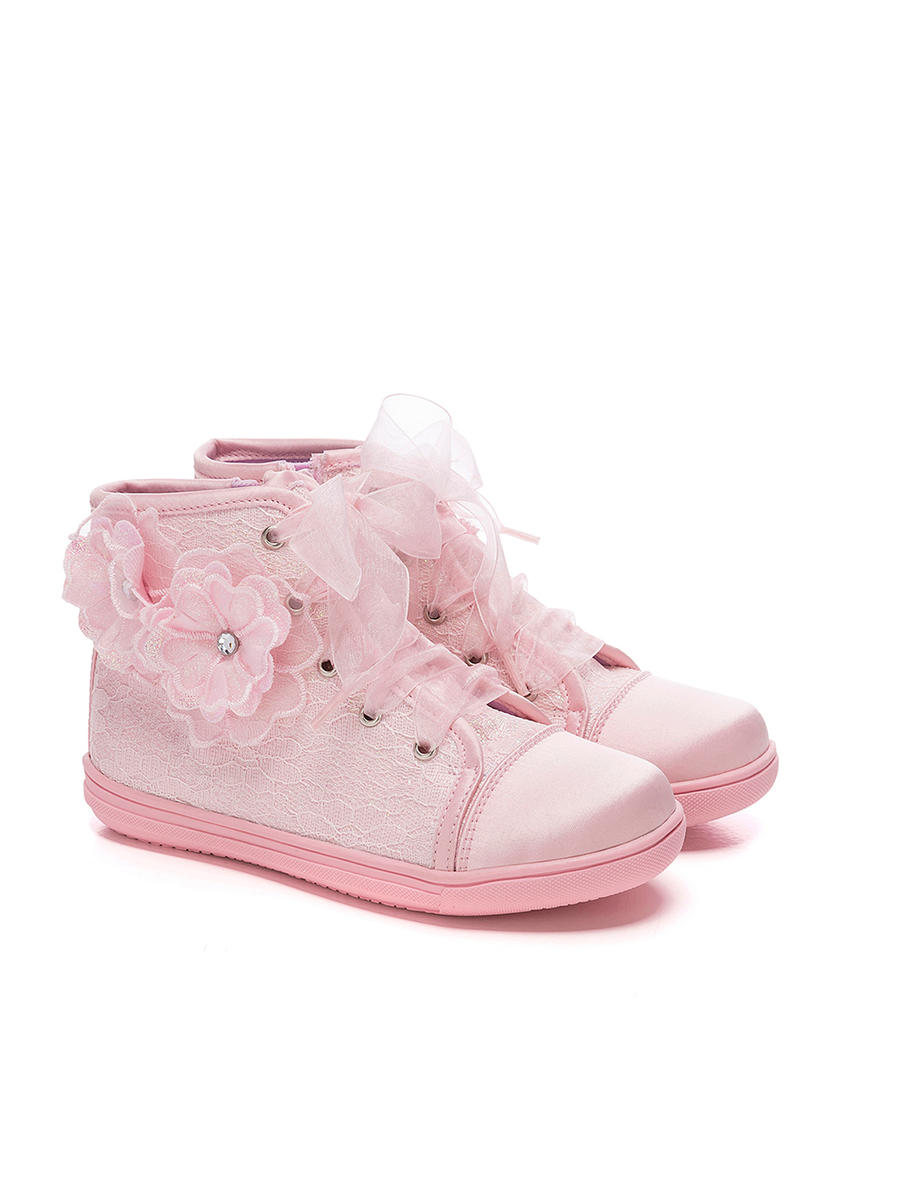 VALENCIA  IMPORTS - Satin Sneakers With Lace