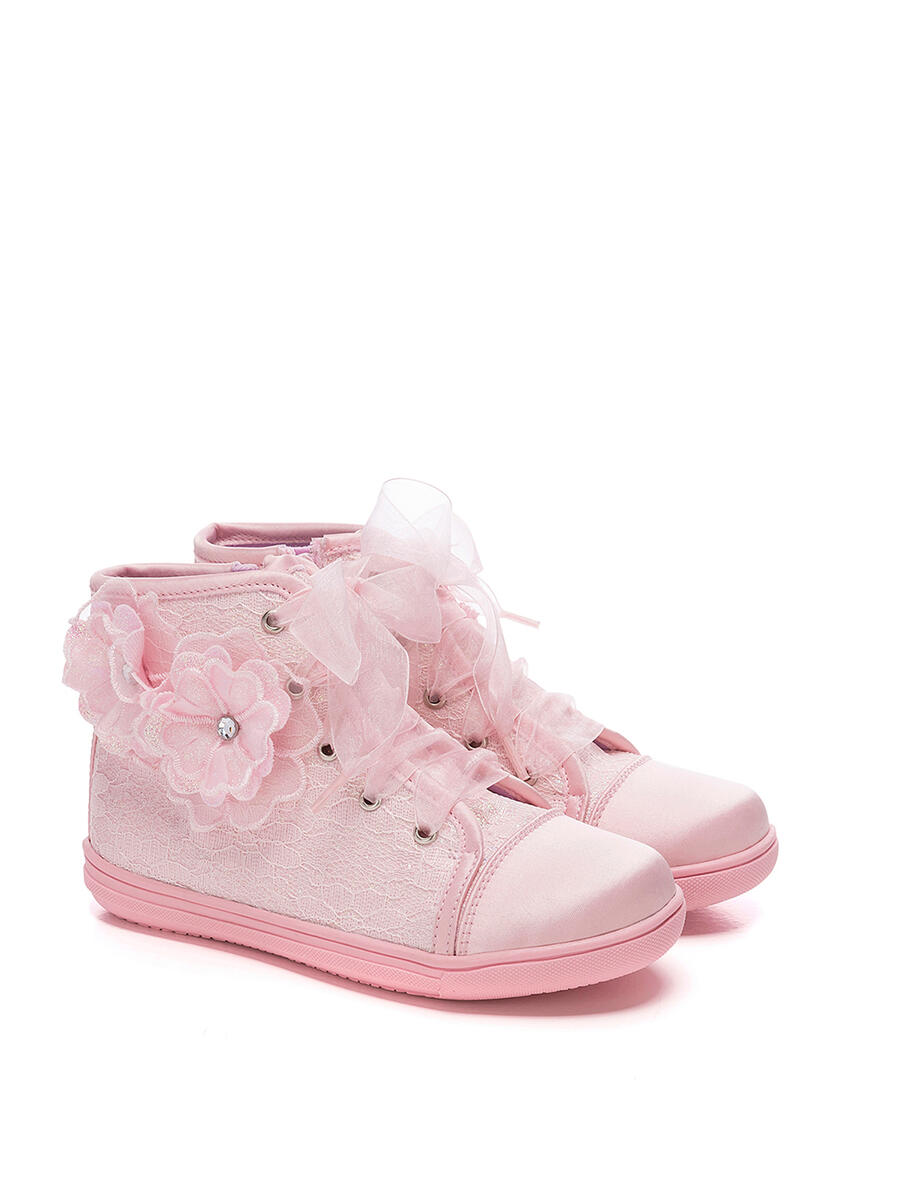 VALENCIA  IMPORTS - Satin Sneakers with Lace small sizes