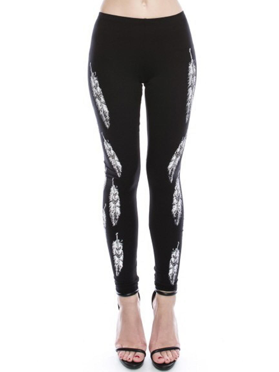 Vocal Apparel - Stretch Leggng with Print Detail