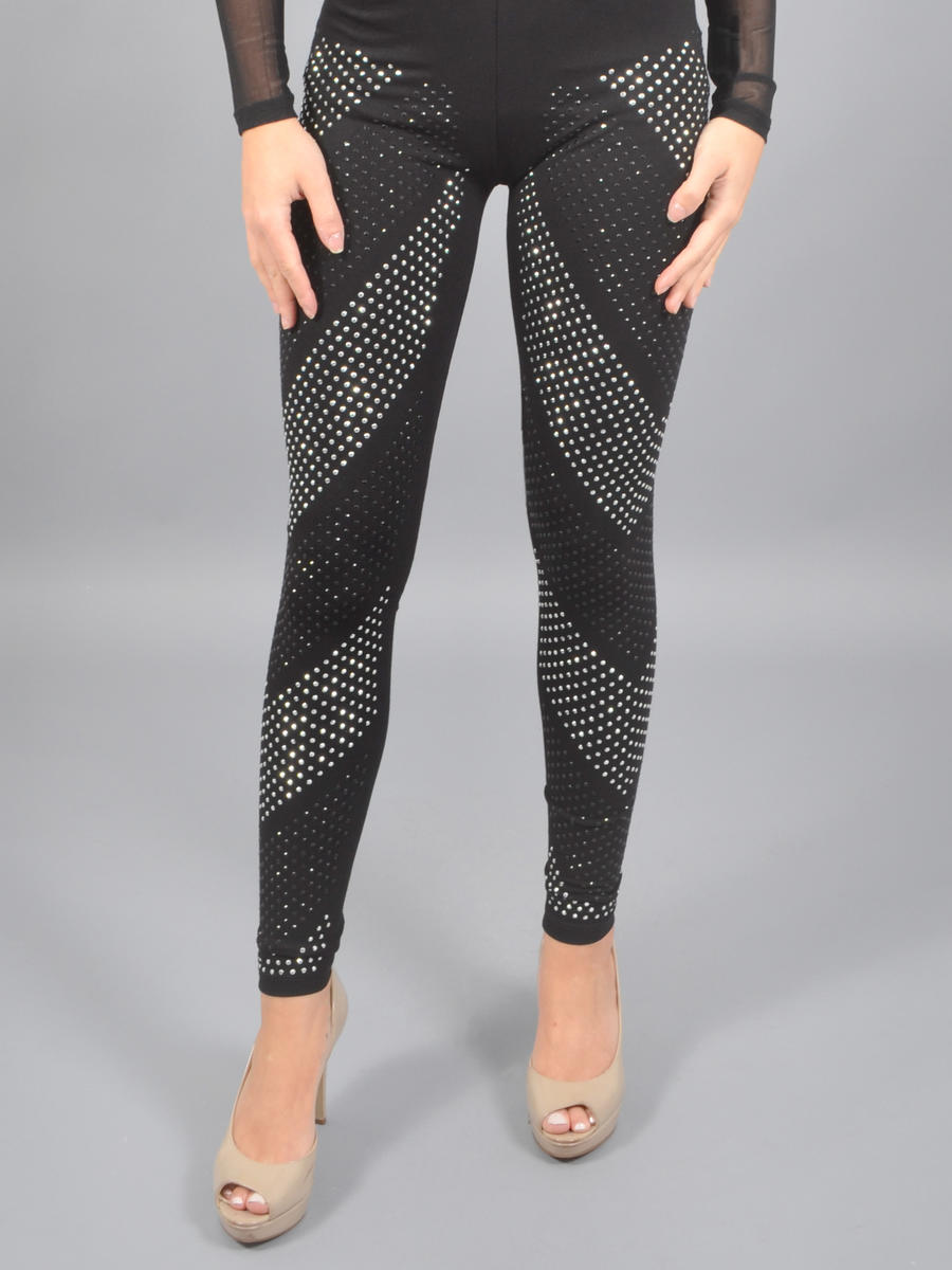 Vocal Apparel - Lycra Leggings-Bead Trim