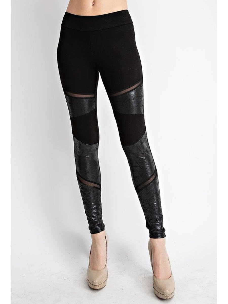 Vocal Apparel - Leggings with Suede Contrast