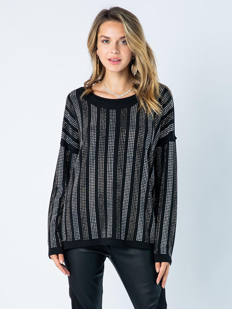 Vocal Apparel - Long Sleeve Knit/Bead Sweater