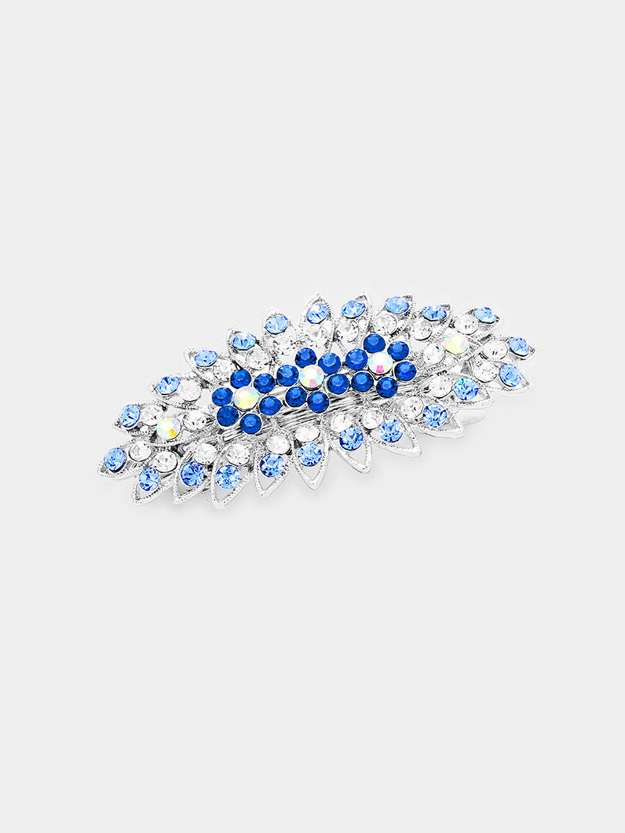 WONA TRADING INC - Bubble Stone Pave Triple Flower Barrette