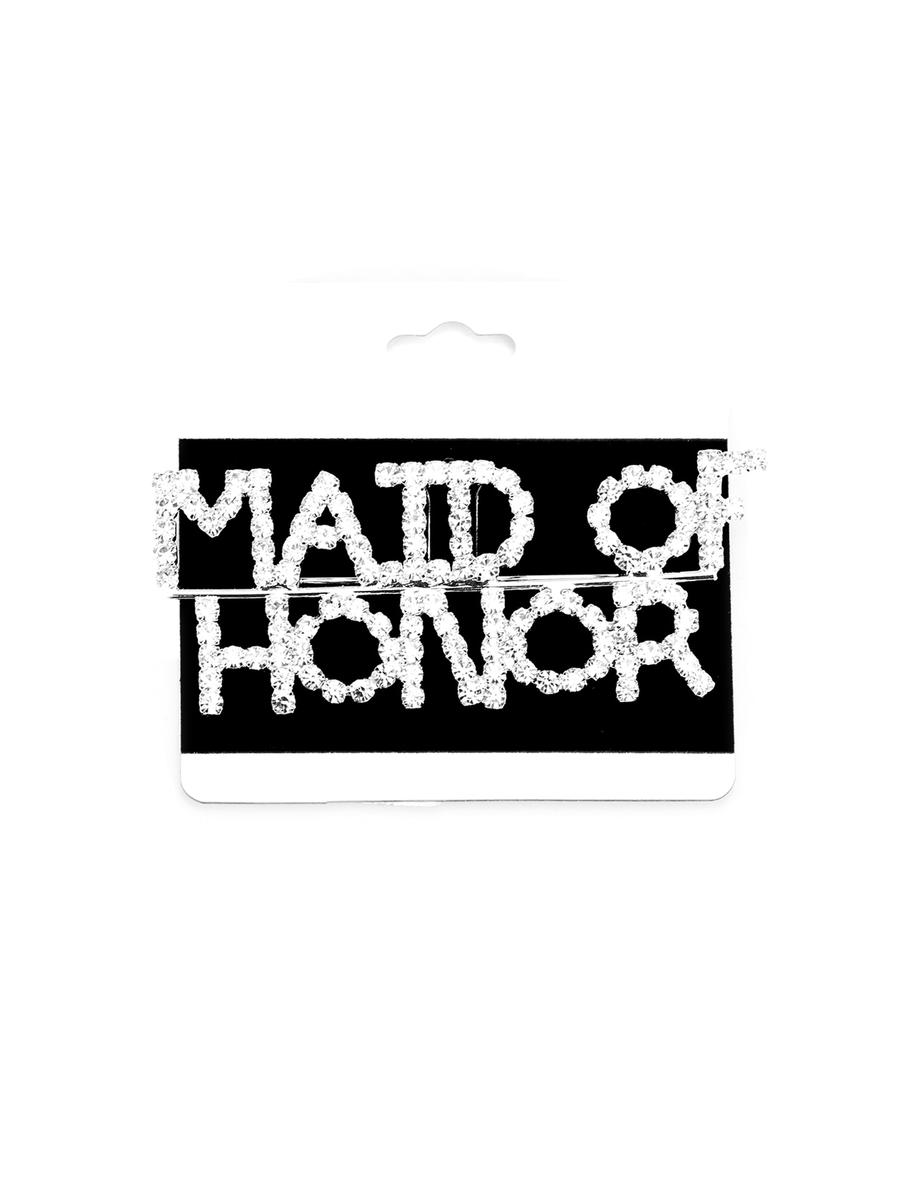 WONA TRADING INC - Maid Of Honor' Rhinestone Pin Brooch