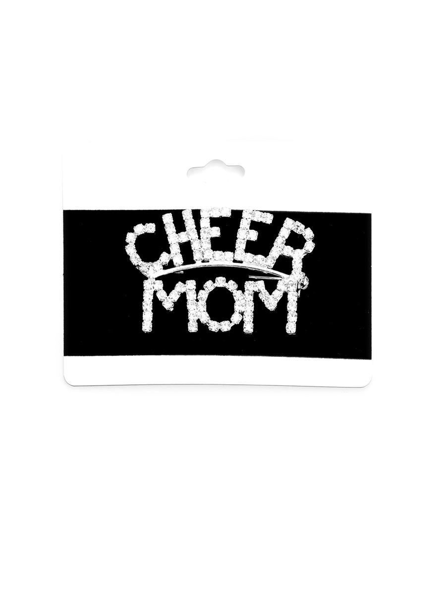 WONA TRADING INC - 'Cheer Mom' Rhinestone Pin Brooch