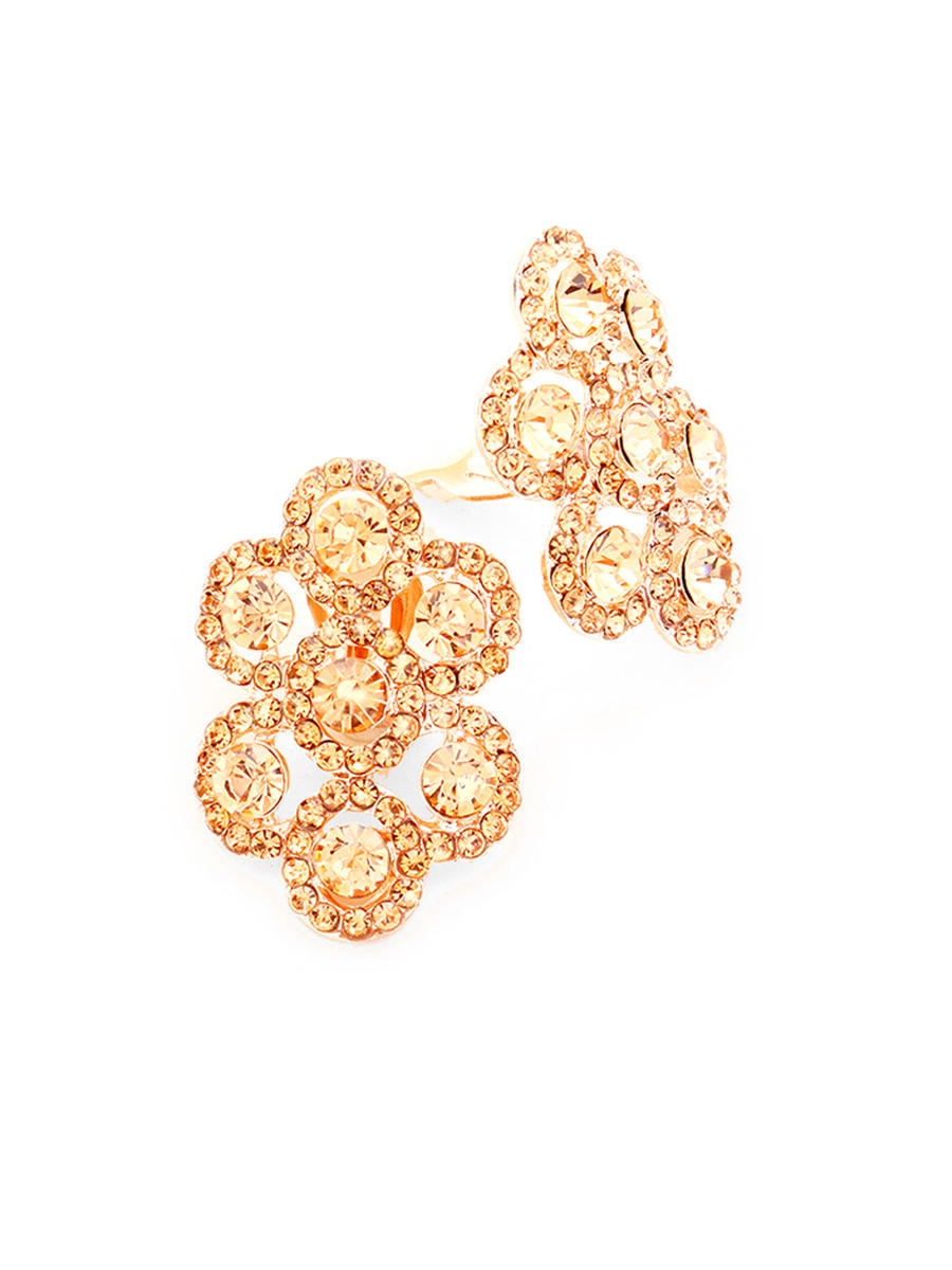 WONA TRADING INC - Pave Trimmed Crystal Rhinestone Clustered Clip On