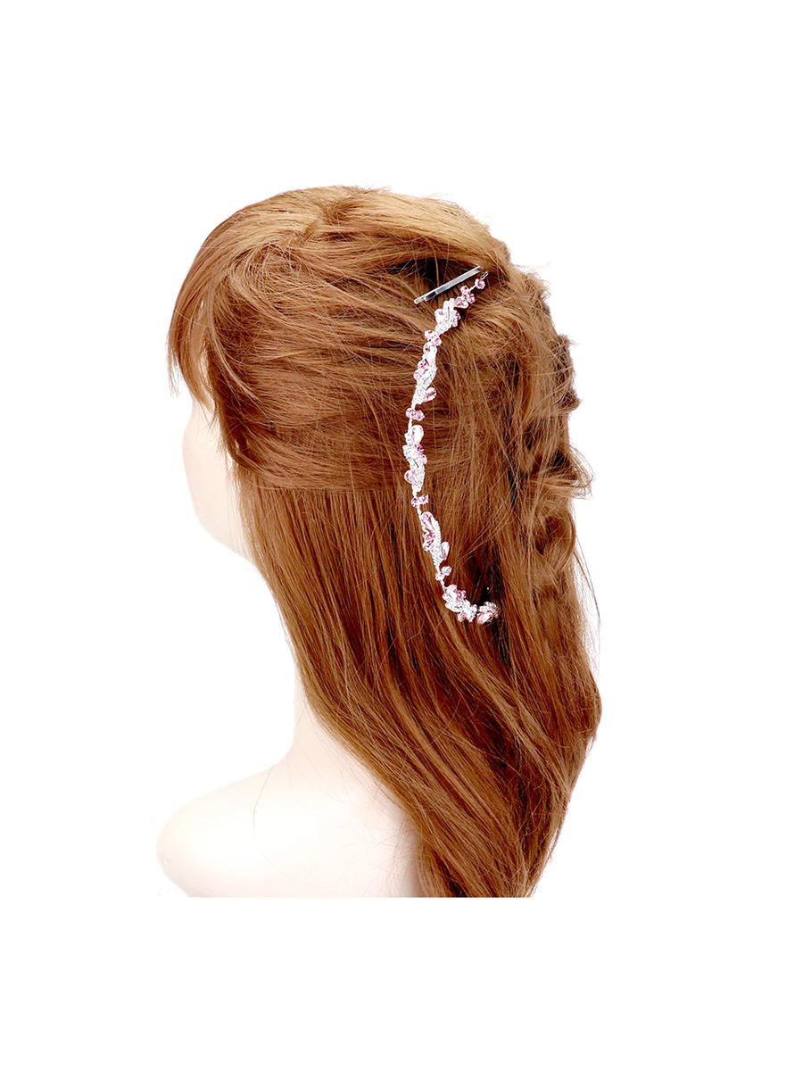 WONA TRADING INC - Teardrop Crystal Rhinestone Statement Vine Hair Co