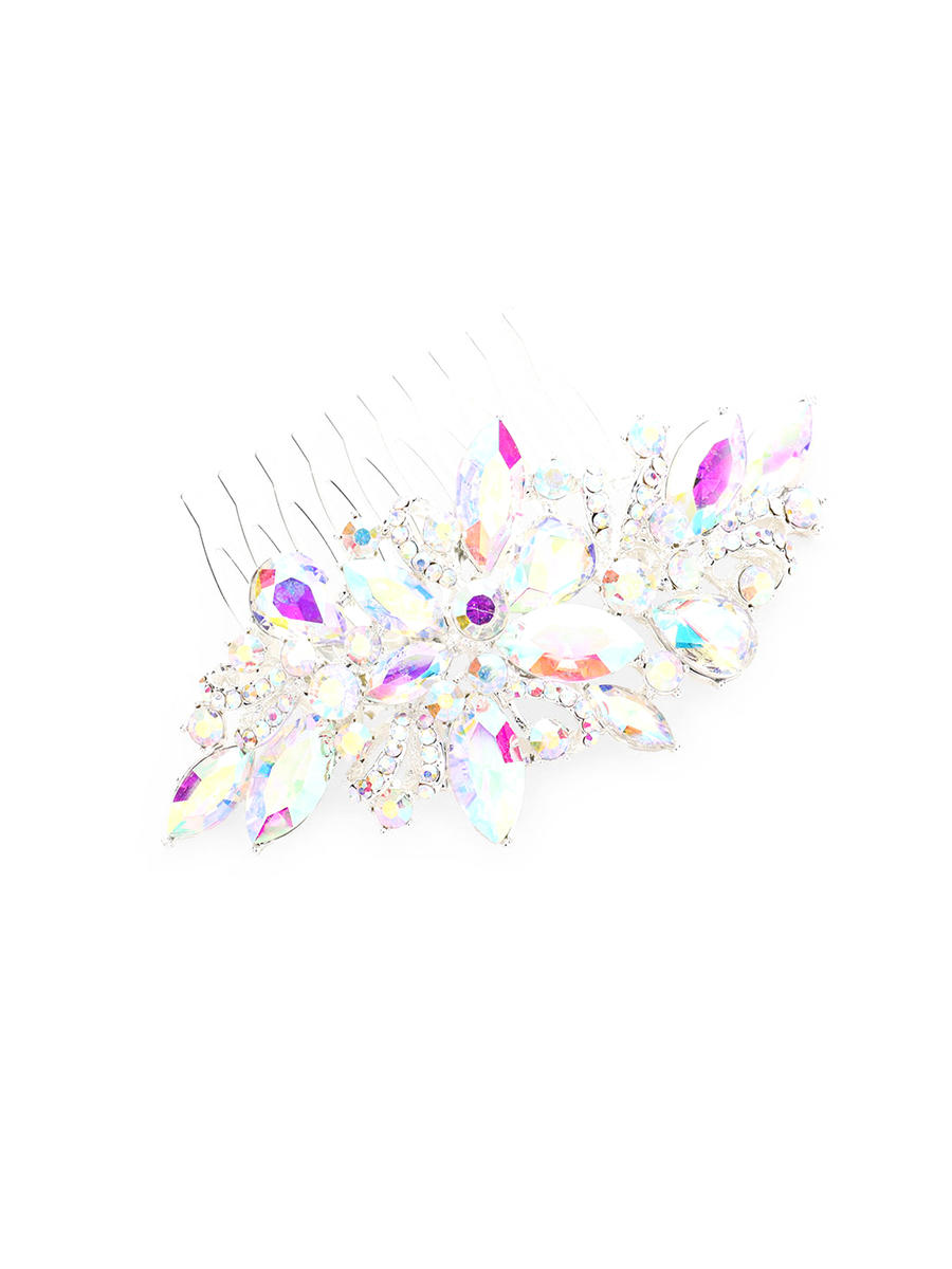 WONA TRADING INC - Marquise Crystal Floral Rhinestone Vine Hair Comb