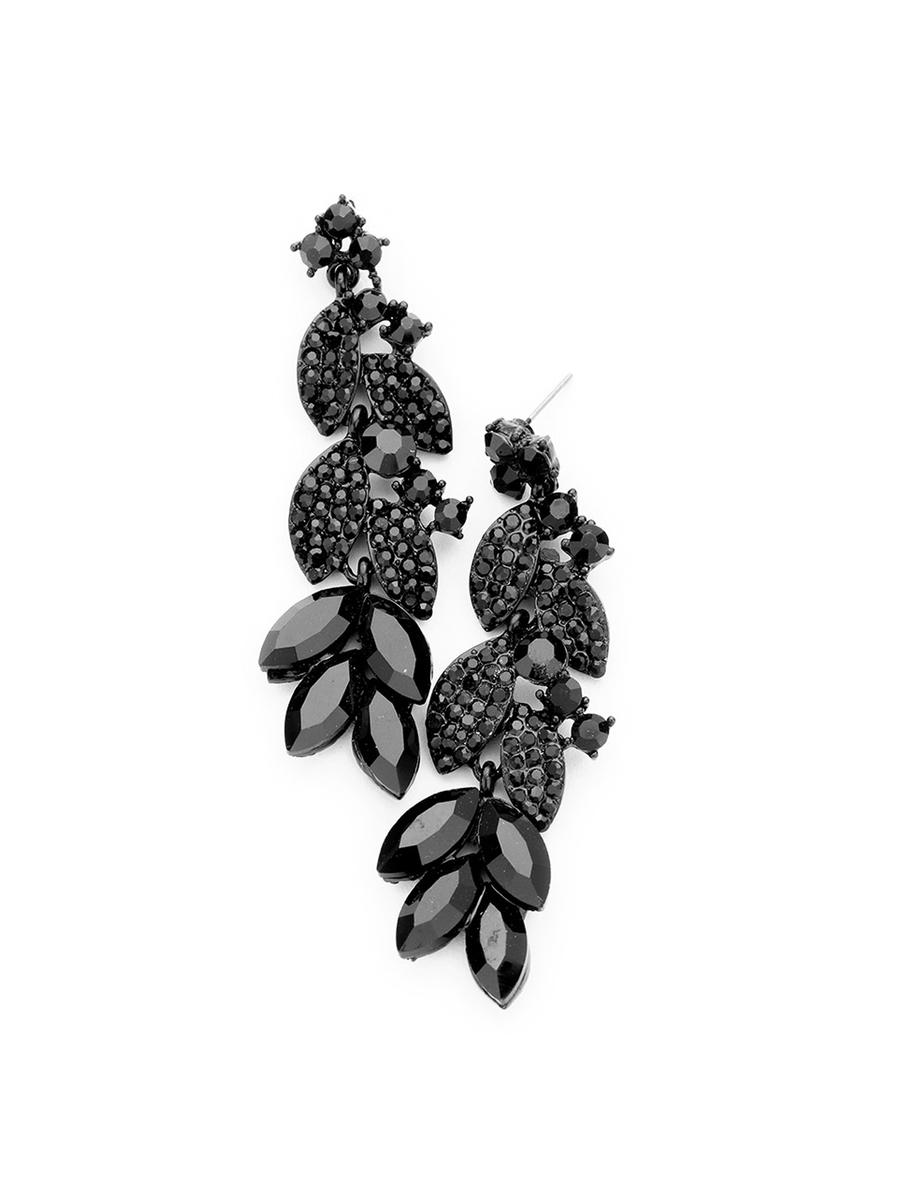 WONA TRADING INC - Marquise Crystal Rhinestone Vine Evening Earrings