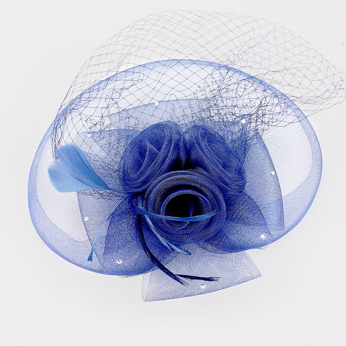 WONA TRADING INC - Rhinestone Detail Flower Fascinator