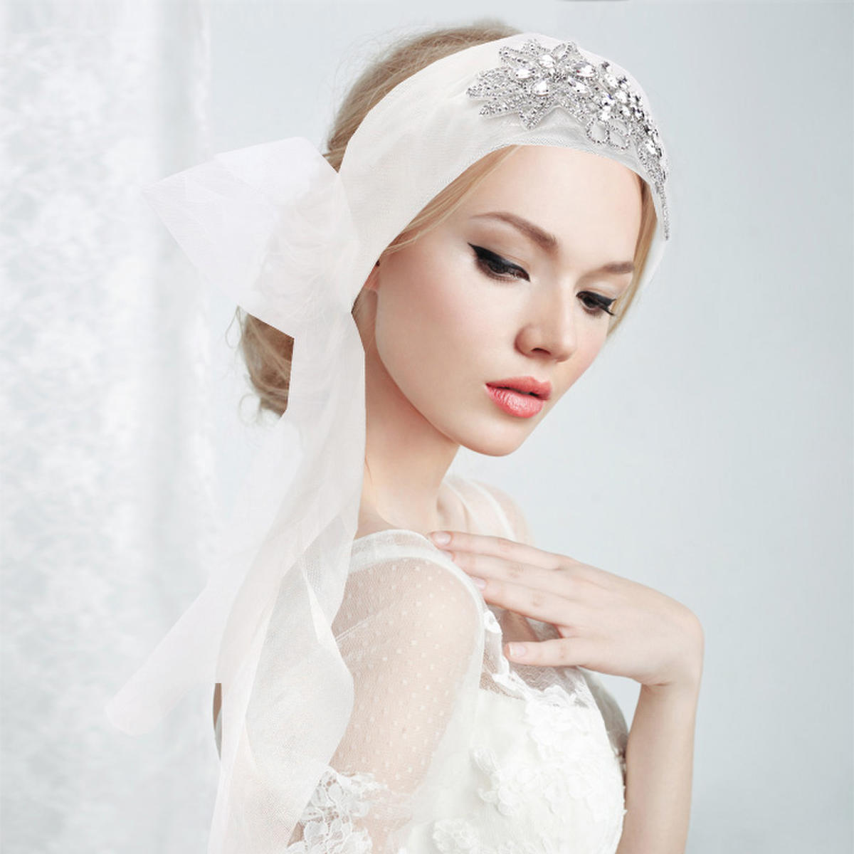 WONA TRADING INC - Crystal Embellished Bridal Wedding Headband
