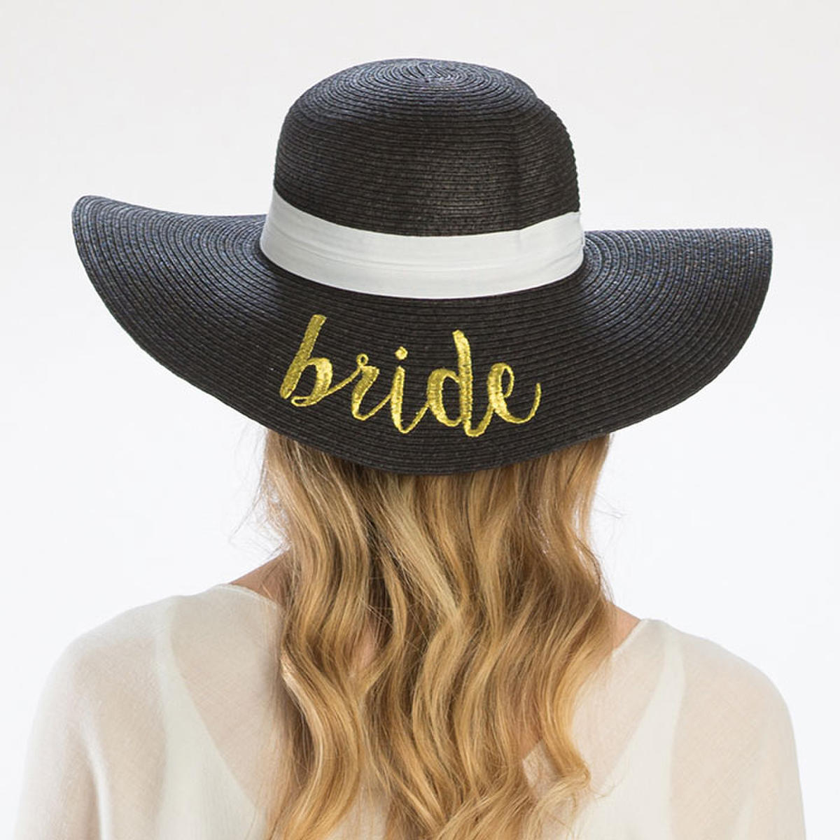 WONA TRADING INC - Bride' Embroidery Straw Floppy Sun Hat