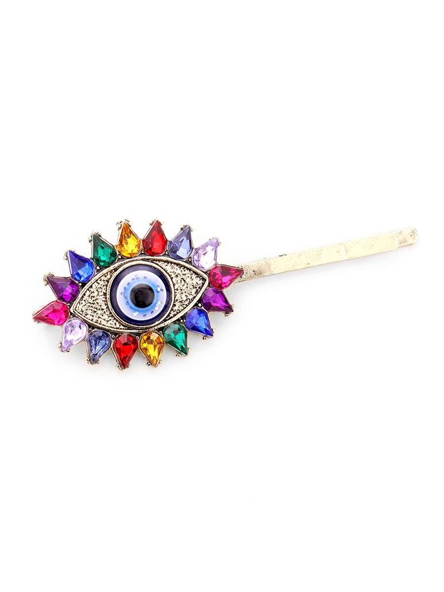 WONA TRADING INC - Teardrop Crystal Evil Eye Bobby Pin