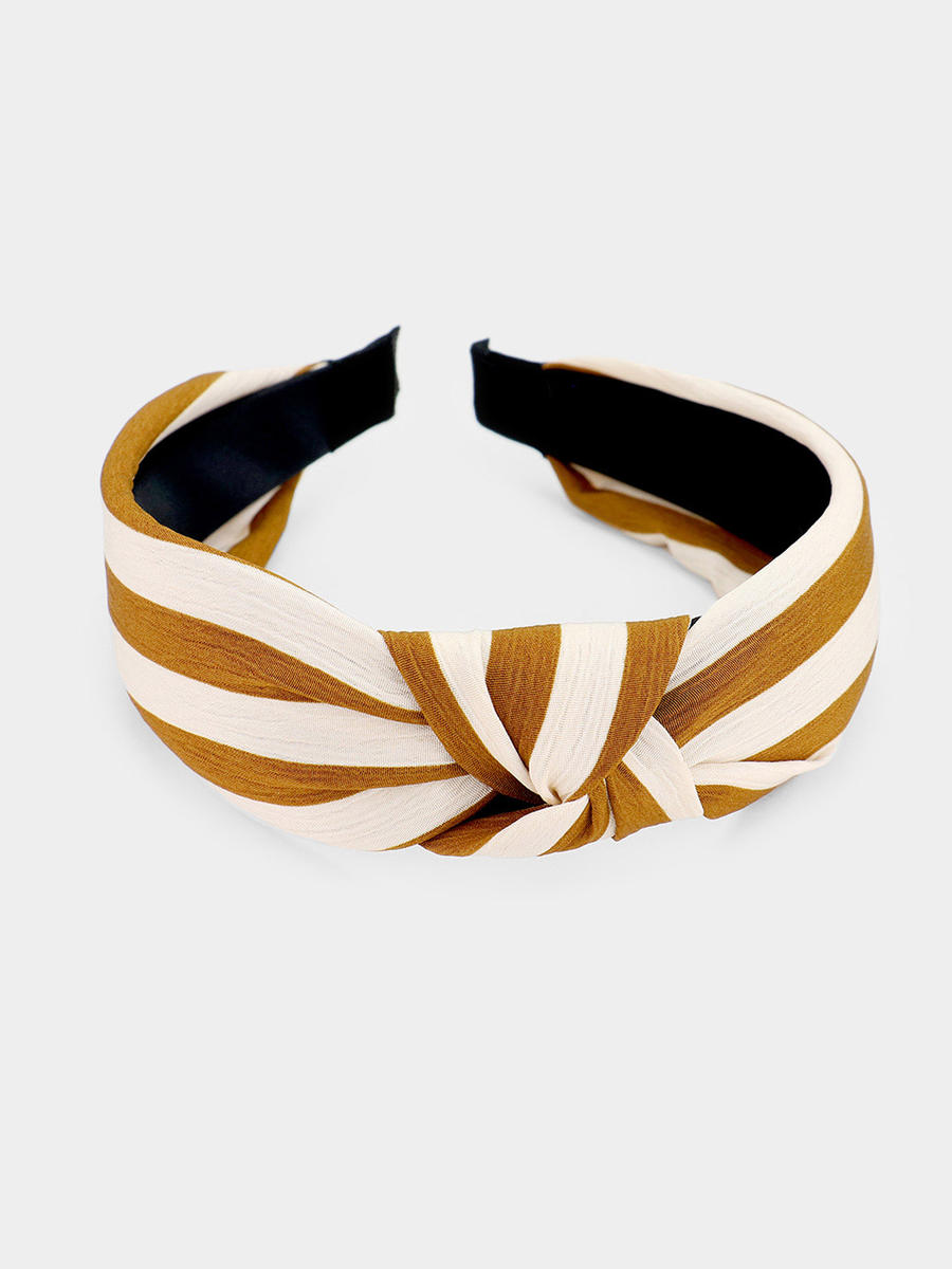 WONA TRADING INC - Stripe Knotted Headband