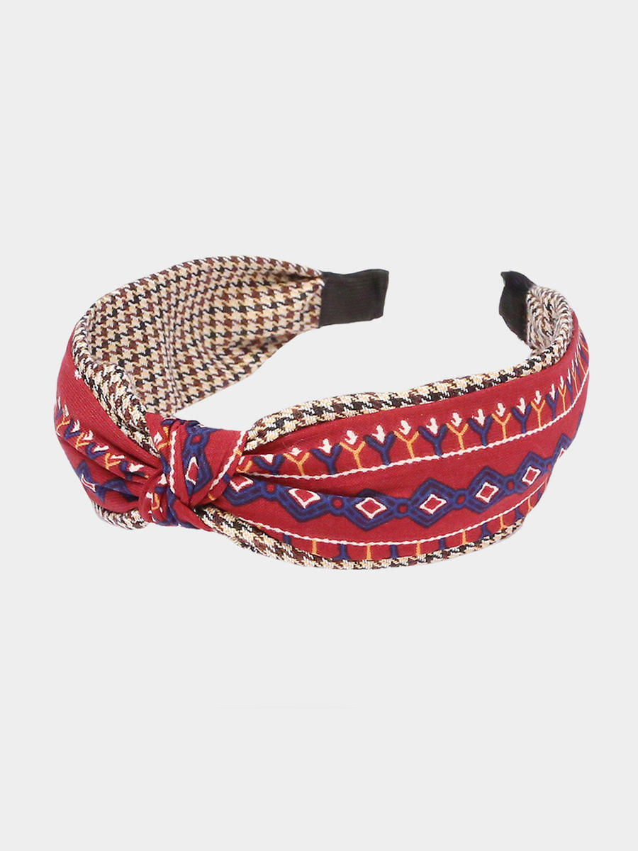 WONA TRADING INC - Tribal print Knotted Headband