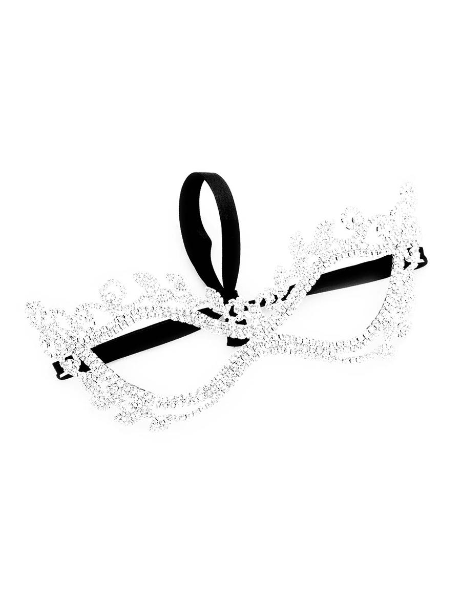 WONA TRADING INC - Crystal Rhinestone Pave Leaf Cat Eye Mask