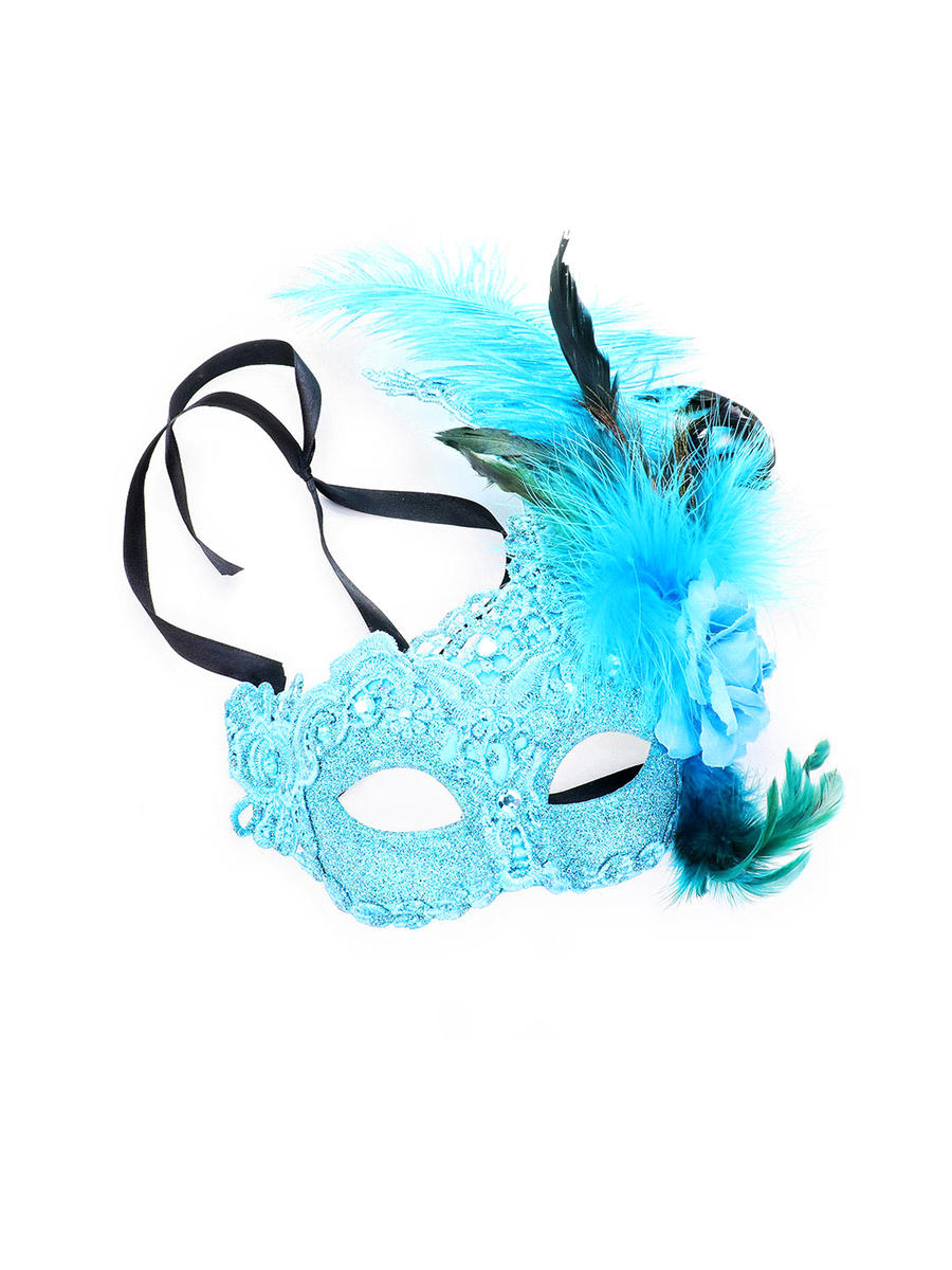 WONA TRADING INC - Feather Flower Masquerade Lace Eye Mask