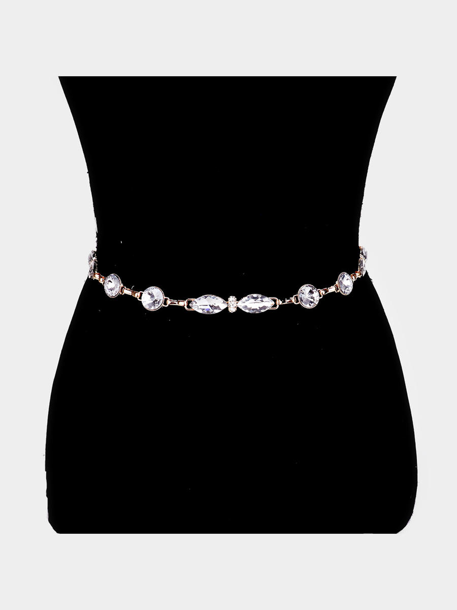 WONA TRADING INC - Embellished Crystal Waist Belt