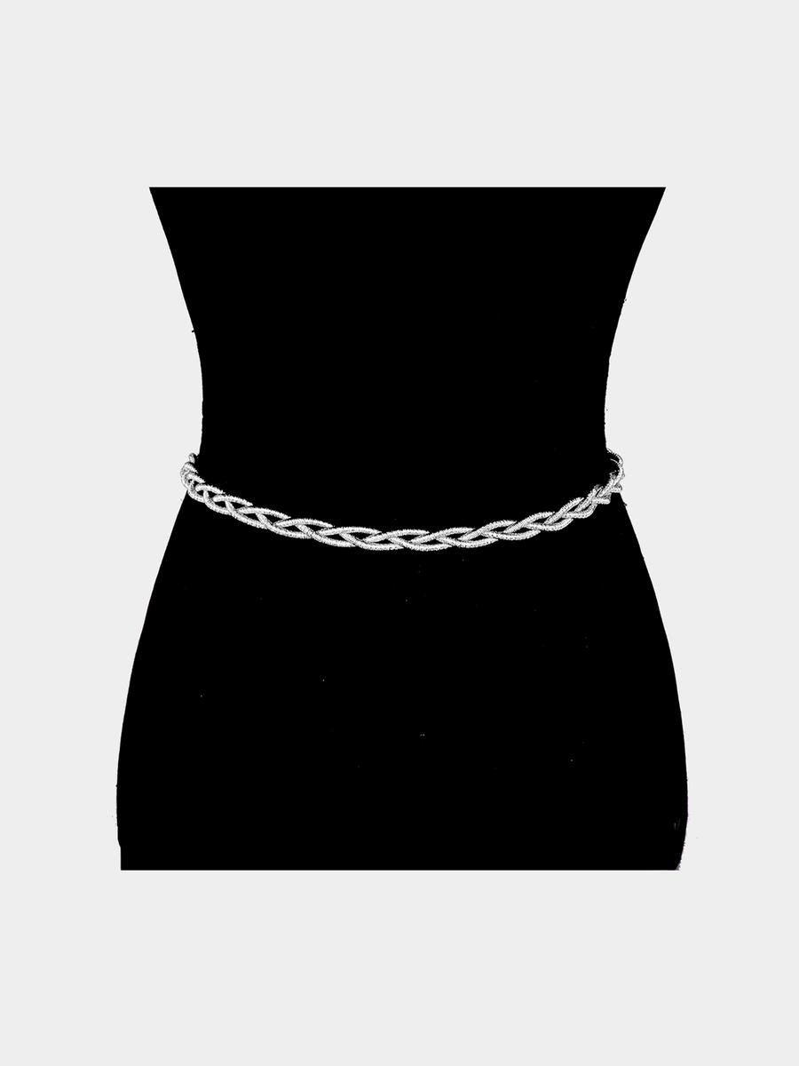 WONA TRADING INC - Shimmery Braid Cord Belt