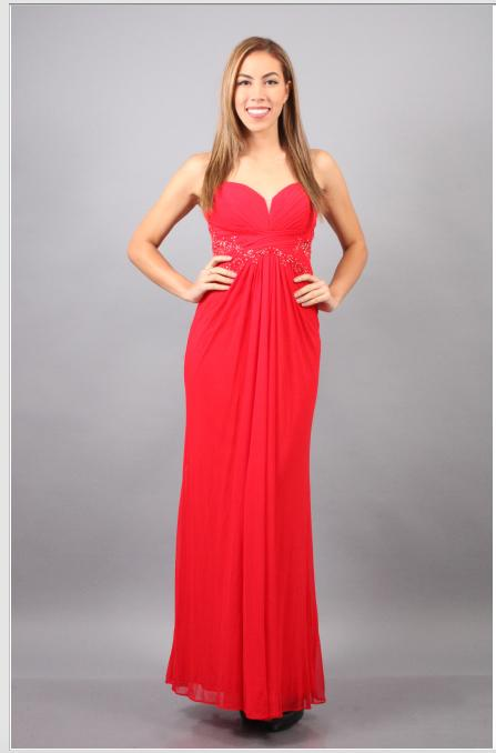 Strapless Beaded Chiffon