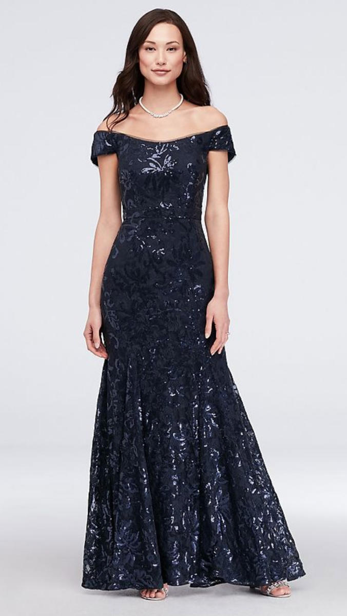 Lace sequin Gown Off Shoulder