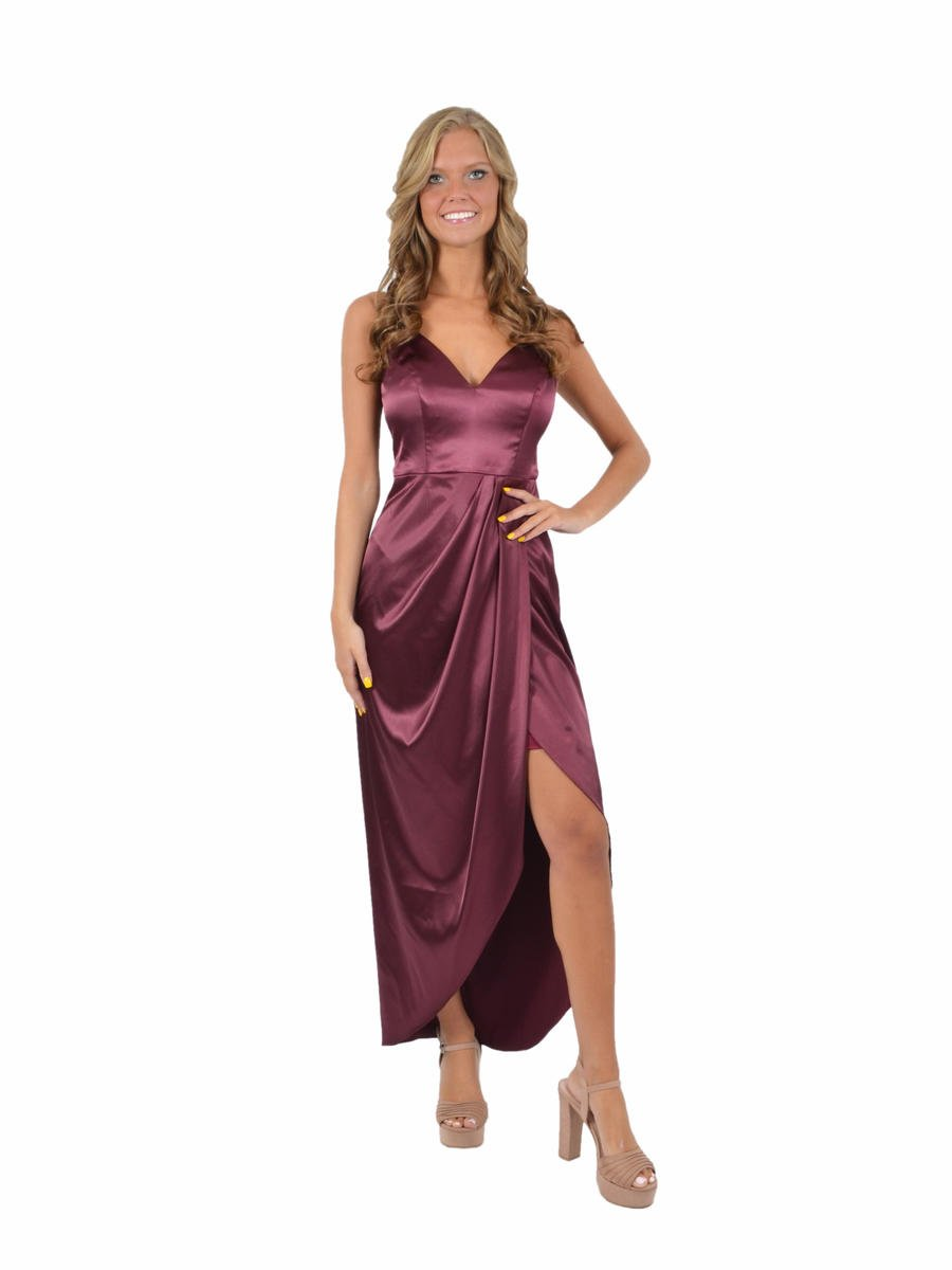 Satin High Low Dress