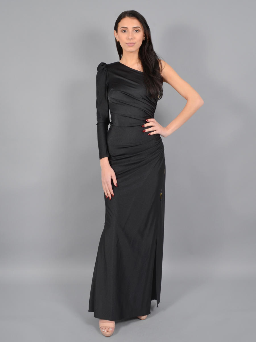 XSCAPE - One Long Sleeve Satin Gown 3346X