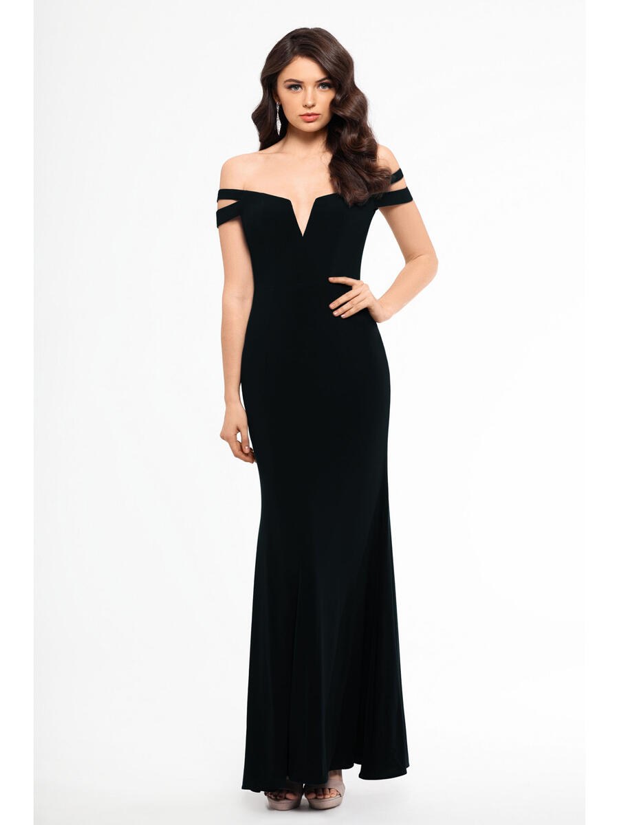 XSCAPE - Double Strap Off-the-Shoulder Gown