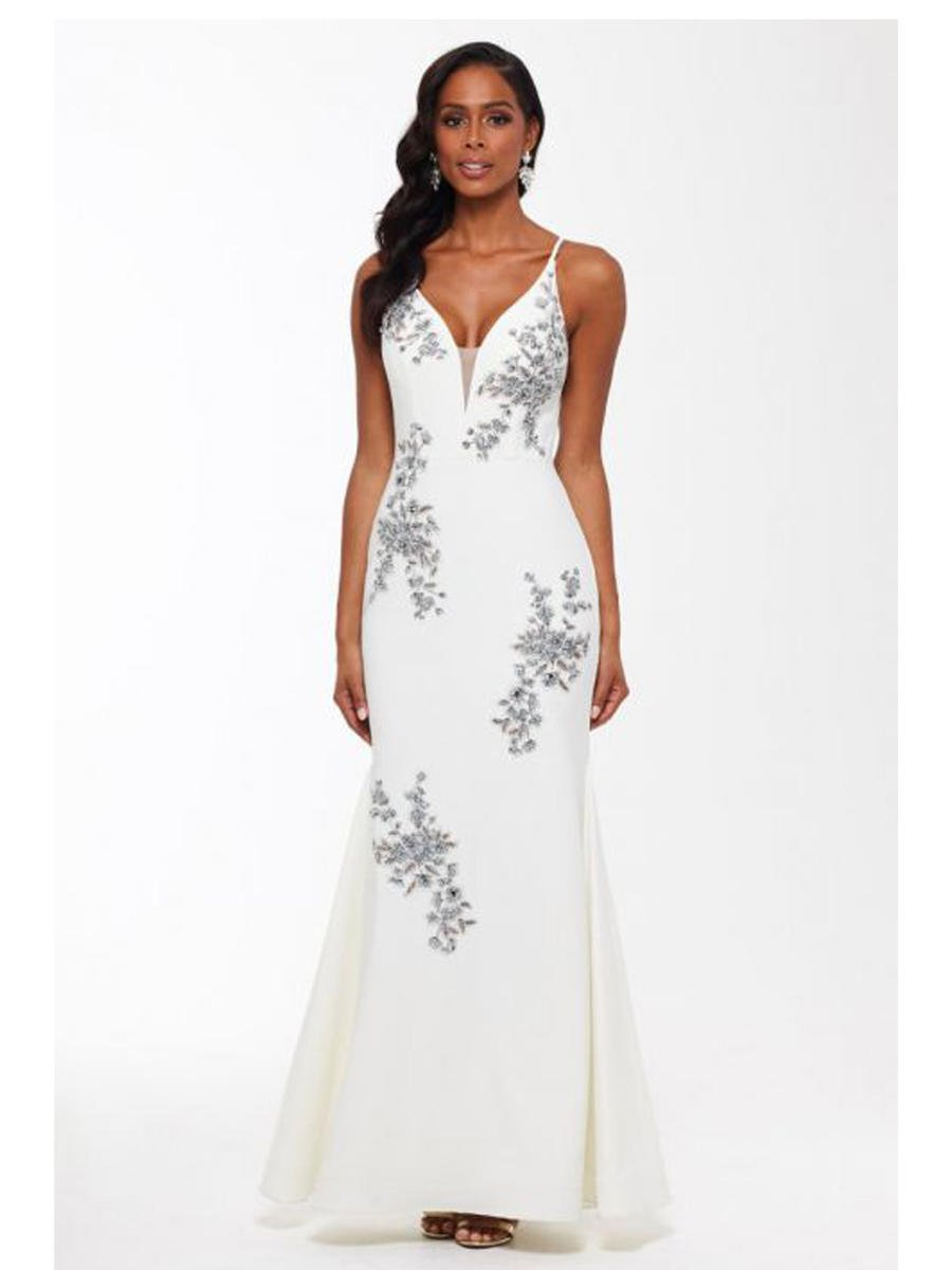 XSCAPE - Metallic Embroidered Gown