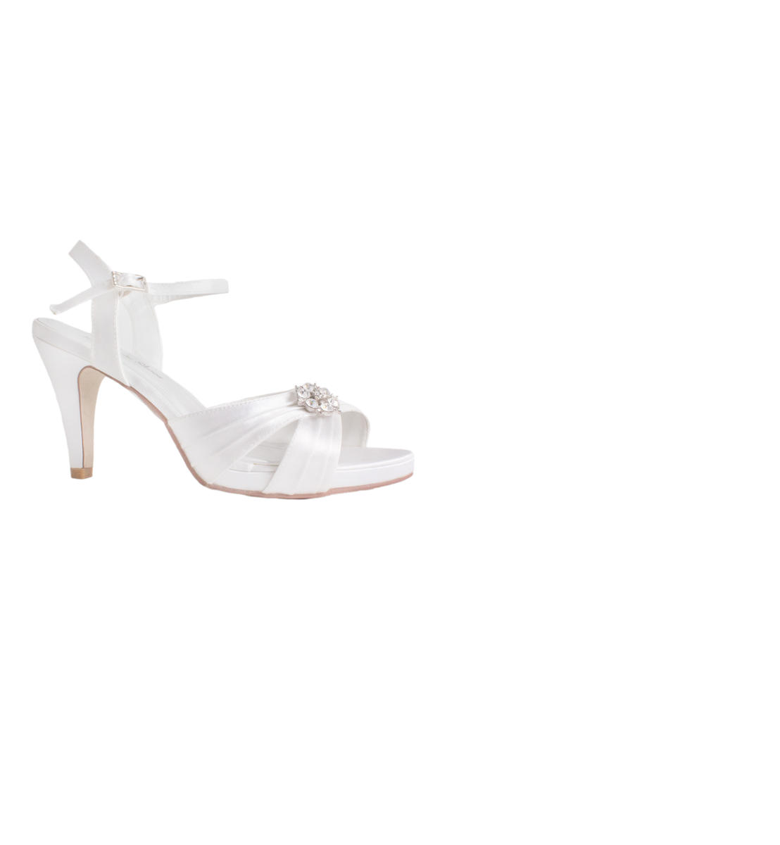 Bridal Shoes Pleated open Toe Ornament