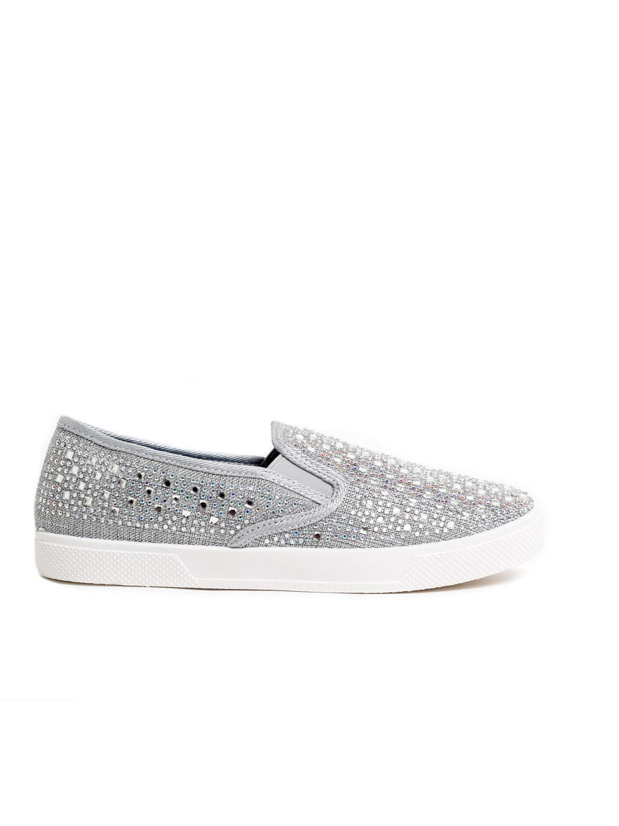 Your Party Shoes - Embellished Canvas Platform Sneaker