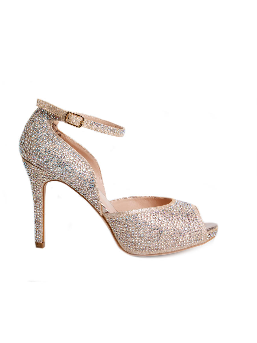 Your Party Shoes - Embellished Peep-Toe Ankle Strap Pump REESE