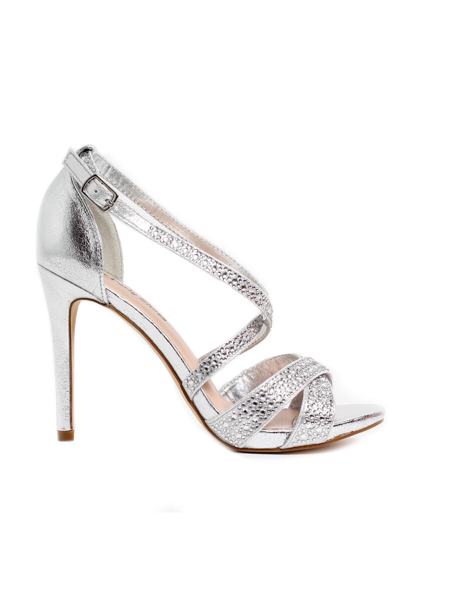 Your Party Shoes - Embellished Metallic X-Strap Pump