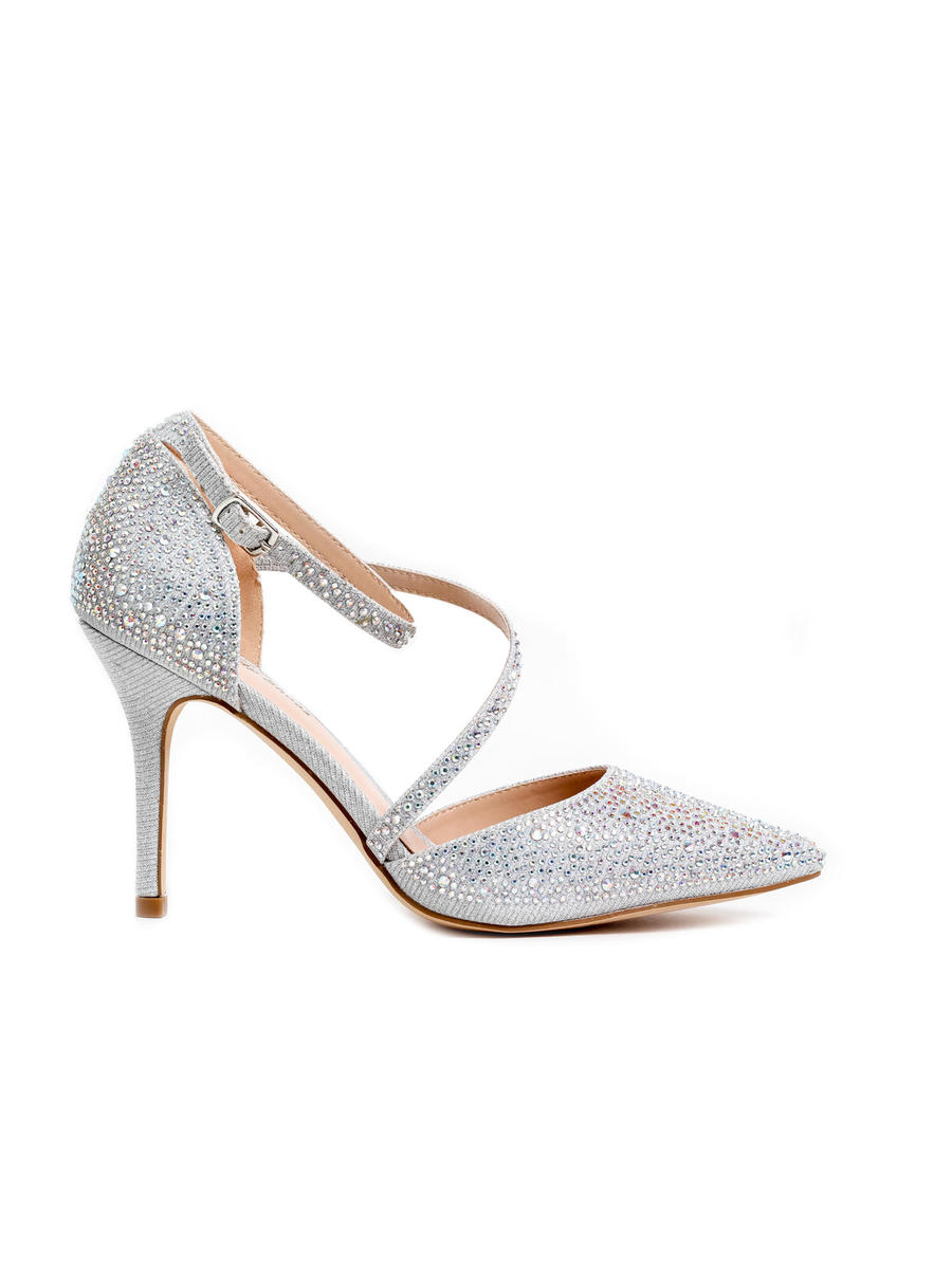 Your Party Shoes - Embellished Pointed Toe Asymmetrical