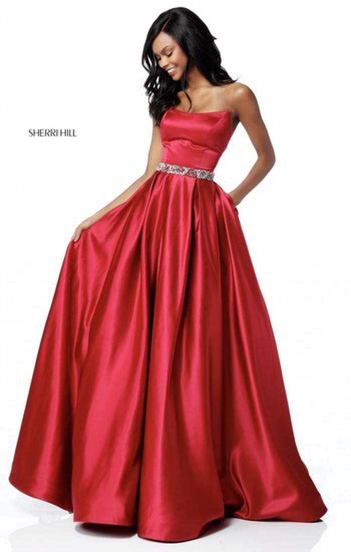 Sherri Hill Strapless Ballgown pageant prom dress