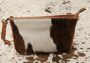 Charlies Leather Calf Wristlet