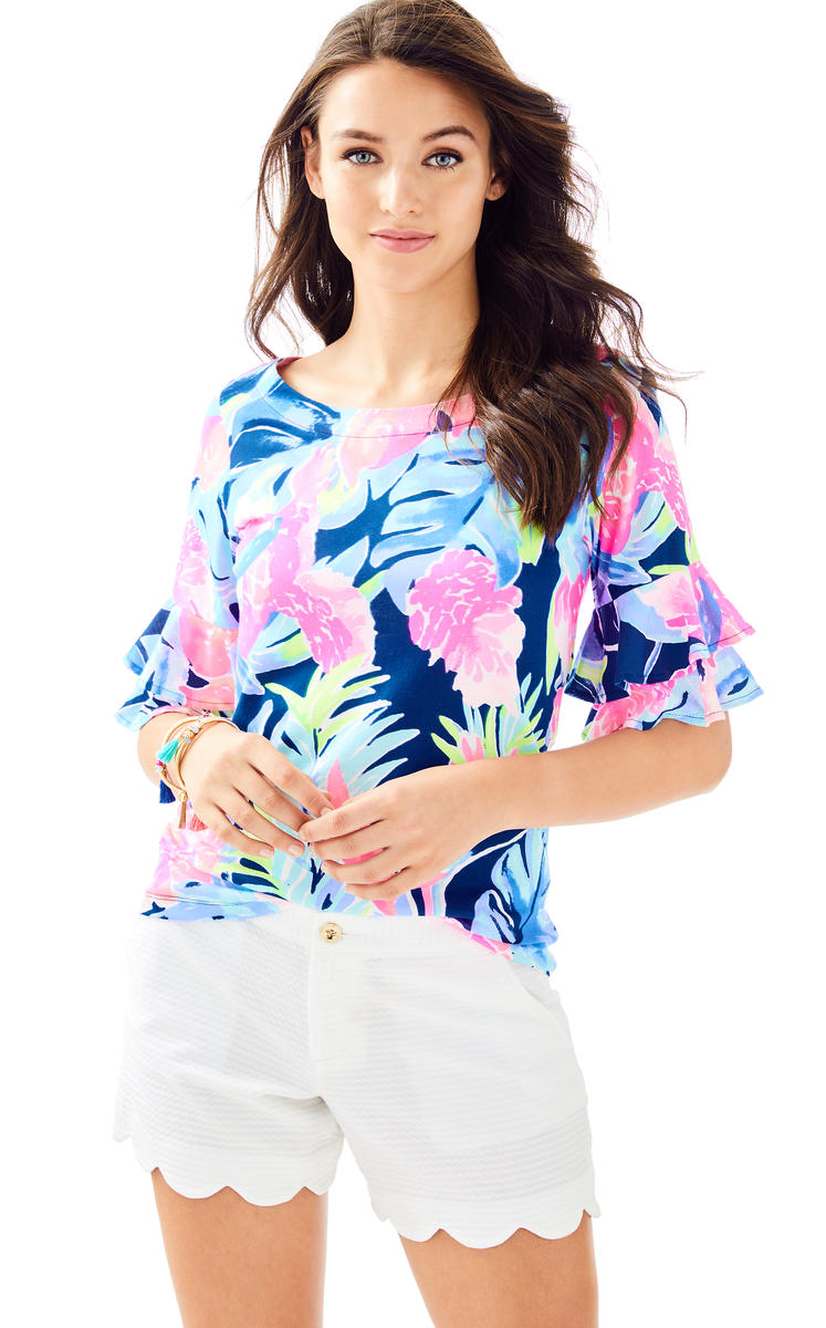 Lilly Pulitzer- BUTTERCUP SCALLOP HEM SHORT 23468